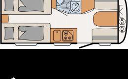 Dethleffs c' joy 460 LE Einzelbetten Pakete Heckfenster