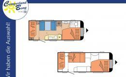 Hobby De Luxe 545 KMF Modell 2022 / 2000 kg