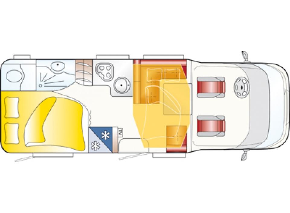 LMC Breezer Lift H 667 als Teilintegrierter in Mülheim