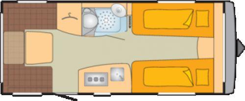 Bürstner Averso Top 475 TL 1700 Kg, Kombidose