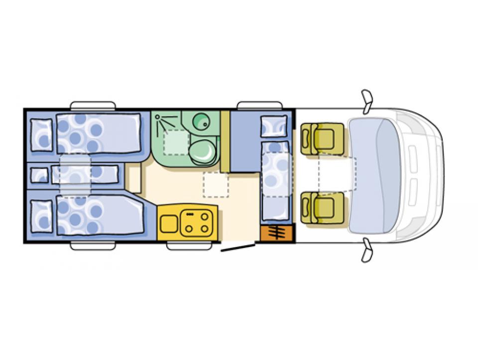 adria compact sl als teilintegrierter in eutin bei. Black Bedroom Furniture Sets. Home Design Ideas