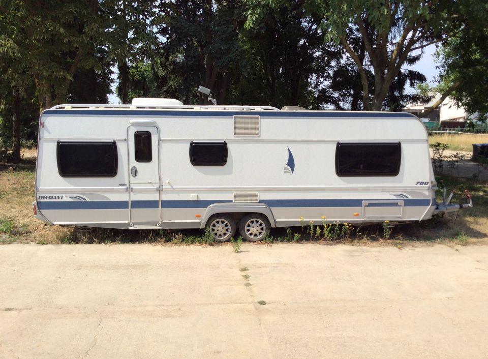 fendt diamant vip 700 als pickup camper bei. Black Bedroom Furniture Sets. Home Design Ideas