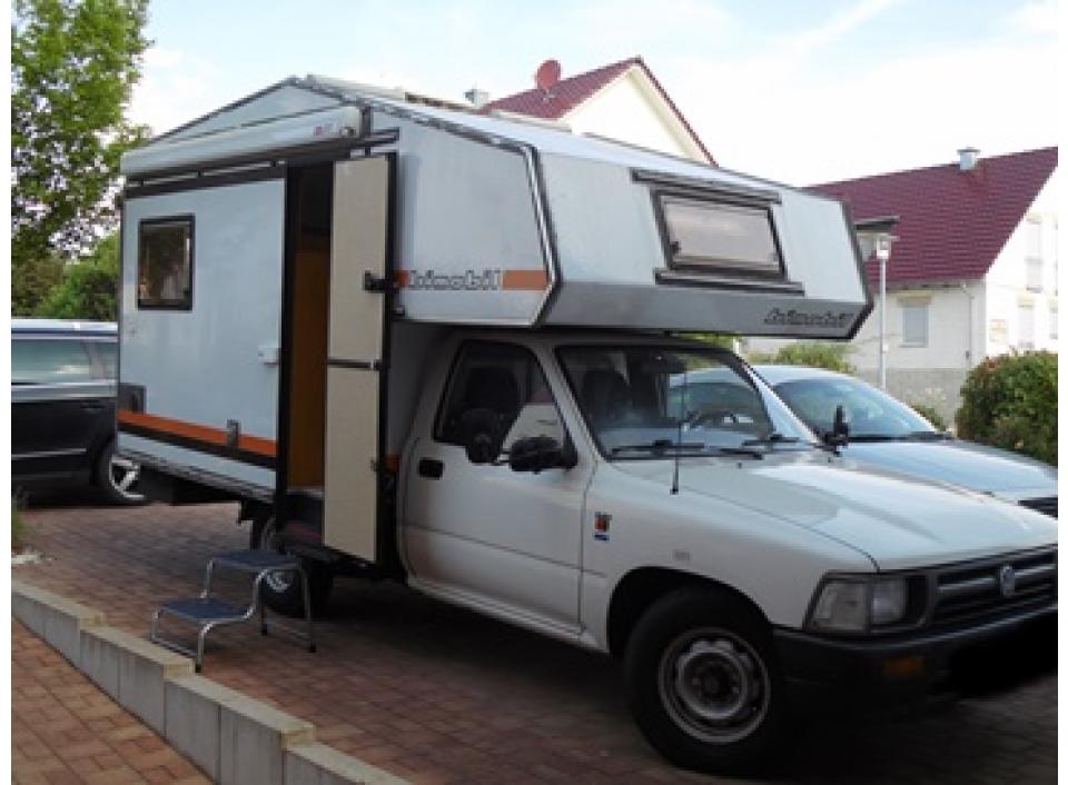 bimobil husky 240 als pickup camper bei. Black Bedroom Furniture Sets. Home Design Ideas