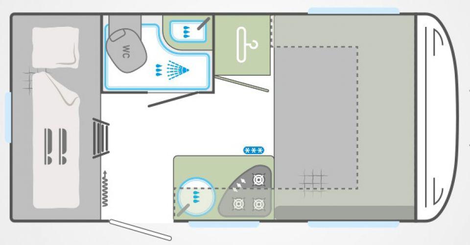 Weinsberg CaraTwo 400 LK Stockbetten & viel Wohnraum - Bild 3