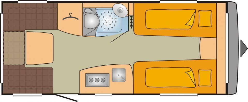 Bürstner Averso Top 475 TL Einzelbetten/Viel Wohnraum! - Bild 2