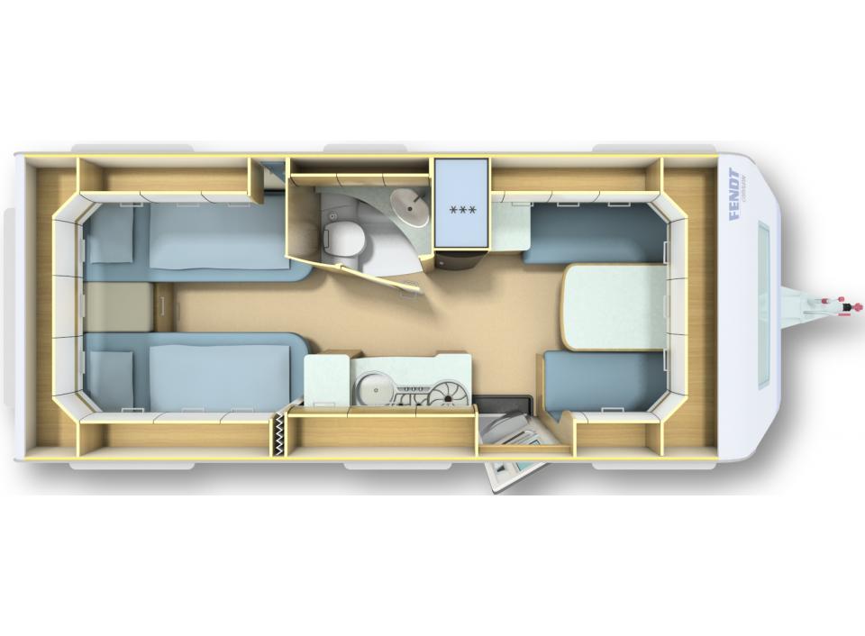fendt bianco activ 515 sge als pickup camper in l rrach bei. Black Bedroom Furniture Sets. Home Design Ideas