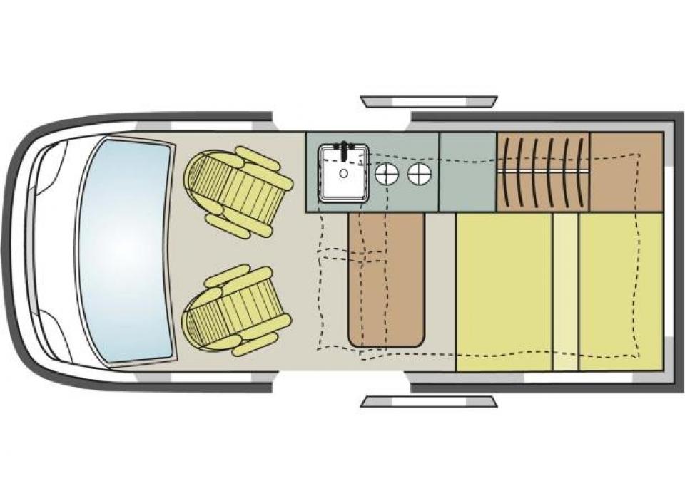 p ssl campster 150 als campervan in ebern bei. Black Bedroom Furniture Sets. Home Design Ideas