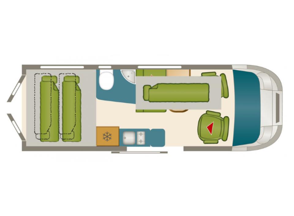 Karmann mobil davis viva 590 als kastenwagen in reinfeld for Viva kühlschrank
