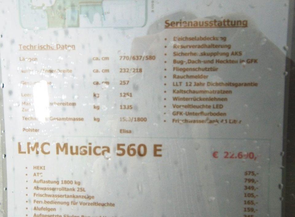 LMC Musica 560 E als PickupCamper in Paderborn bei