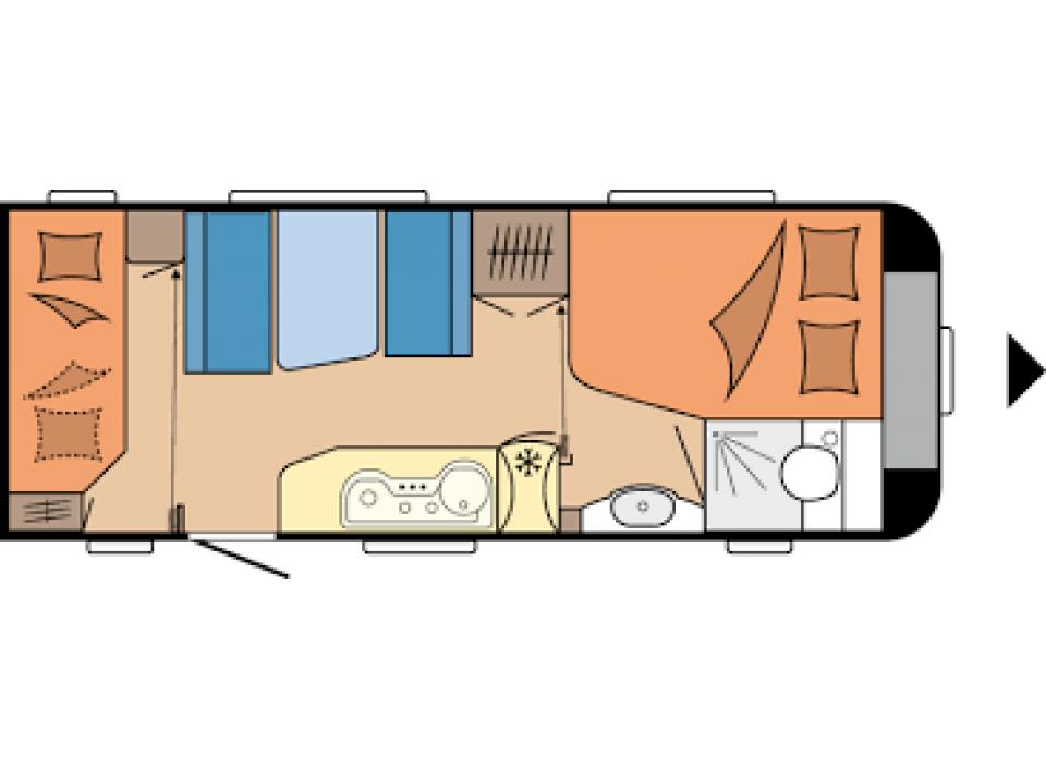 hobby excellent 540 kmfe als pickup camper in raubling bei. Black Bedroom Furniture Sets. Home Design Ideas
