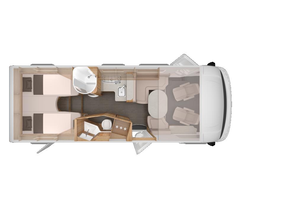 knaus sky i 700 leg als integrierter in cloppenburg bei. Black Bedroom Furniture Sets. Home Design Ideas