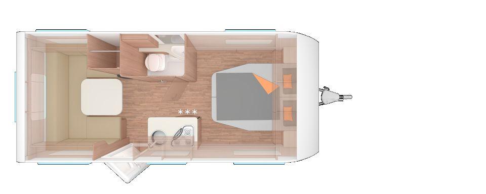 Weinsberg CaraOne 500 XU mit edlem Queensbett und mehr - Bild 2
