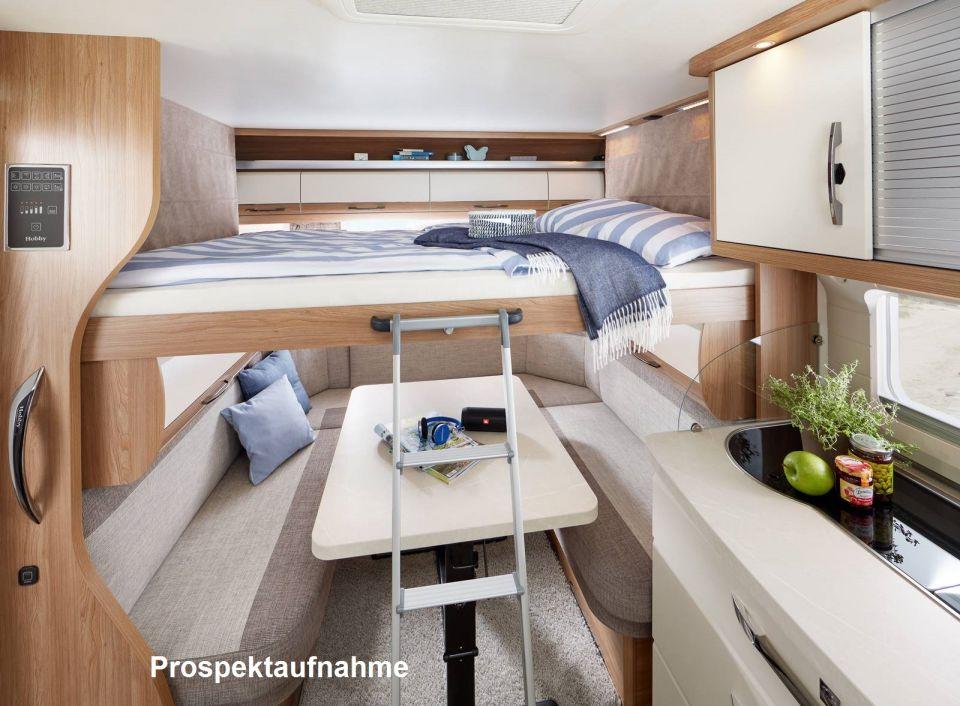 hobby de luxe 515 uhk mit hubbett als pickup camper in. Black Bedroom Furniture Sets. Home Design Ideas